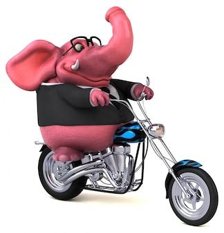 Забавный слон - 3d иллюстрация