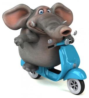楽しい象-3 dイラストレーション Premium写真