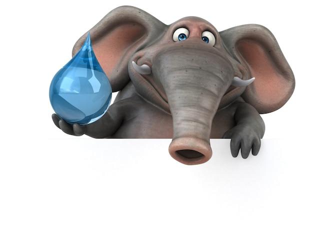 Забавный слон - 3d иллюстрации