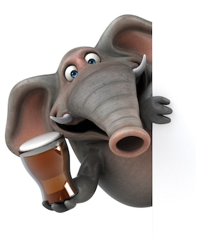 Fun elephant - 3d illustration