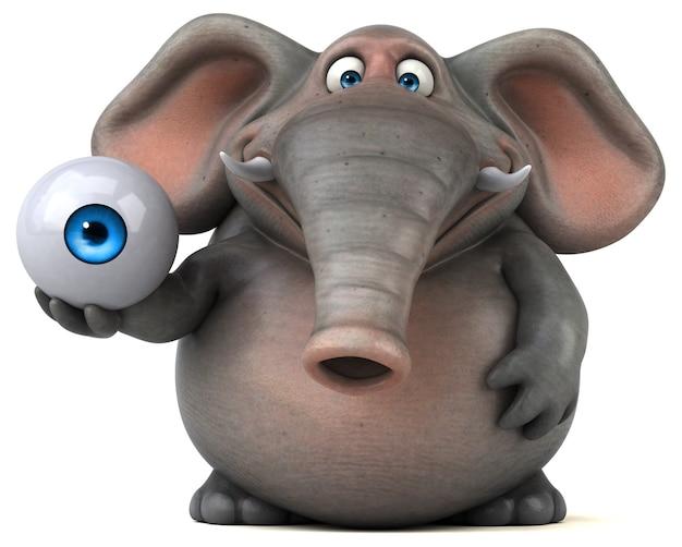 재미있는 코끼리 -3d 일러스트