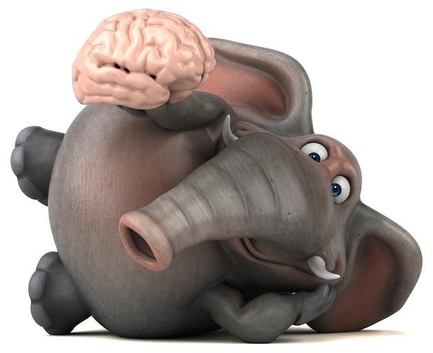 Веселая анимация слона