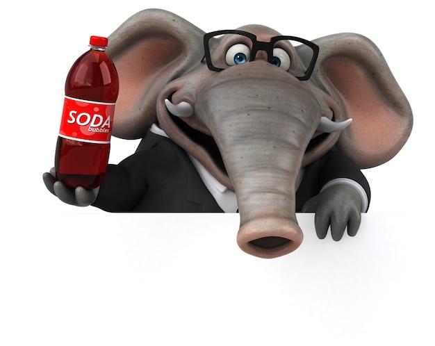 Забавный слон иллюстрация