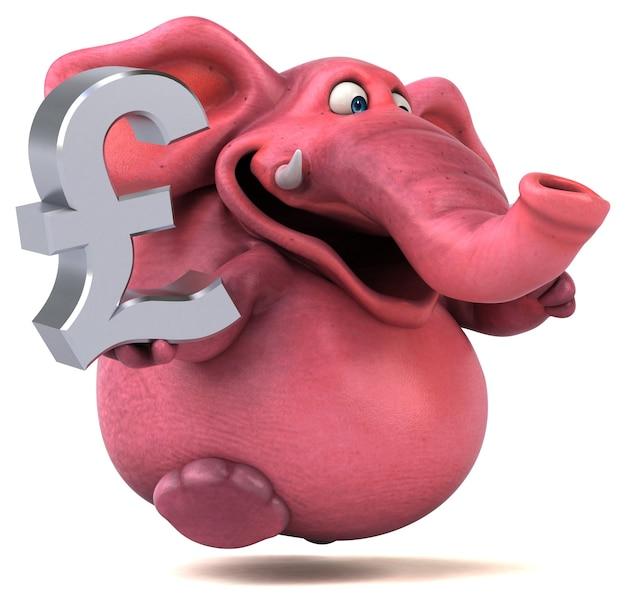 Забавная иллюстрация слона