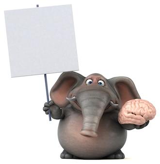 楽しい象のイラスト