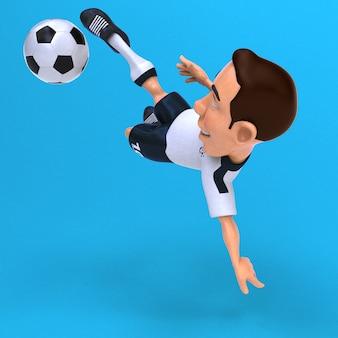 Иллюстрация забавного футболиста