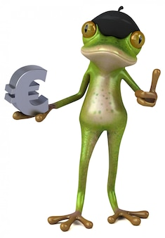 Fun французская лягушка 3d иллюстрации