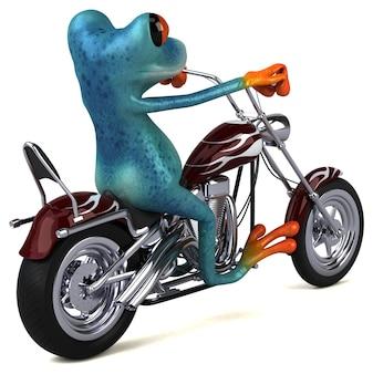Забавная лягушка - 3d иллюстрации