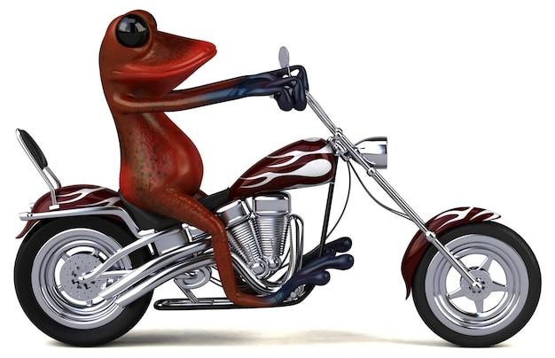 재미있는 개구리 - 3d 일러스트레이션