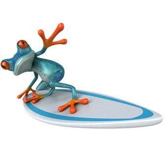 Веселая лягушка 3d иллюстрации