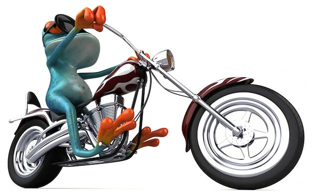 Забавная лягушка - 3d иллюстрация