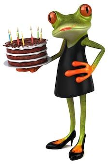Забавная лягушка 3d иллюстрация