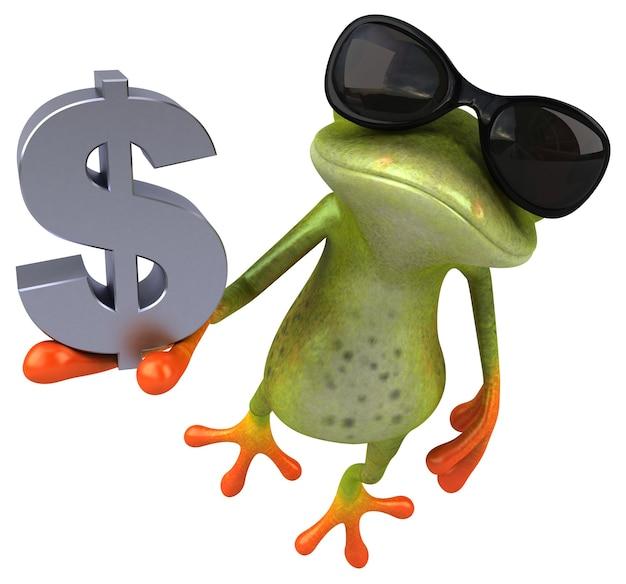 재미있는 개구리 -3d 일러스트