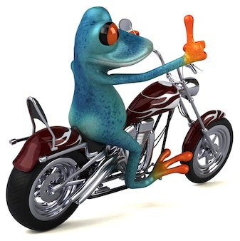 Забавная лягушка иллюстрация