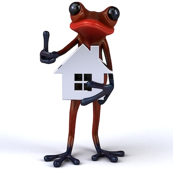 Fun frog3d illustration