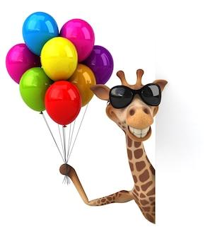 Забавная иллюстрация жирафа