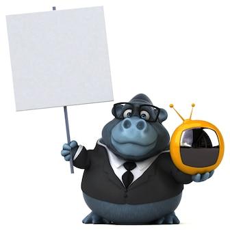 Забавная горилла - 3d иллюстрации