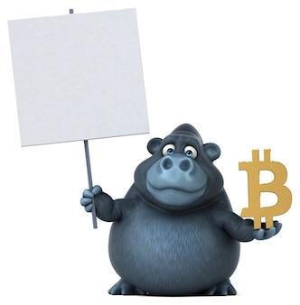Fun gorilla - 3d illustration