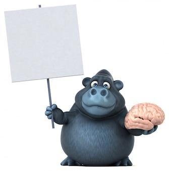 Веселая анимация горилл