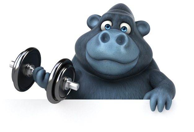 Веселая анимация гориллы
