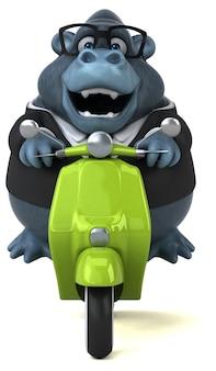 Fun gorilla illustration
