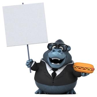 Забавная горилла иллюстрация
