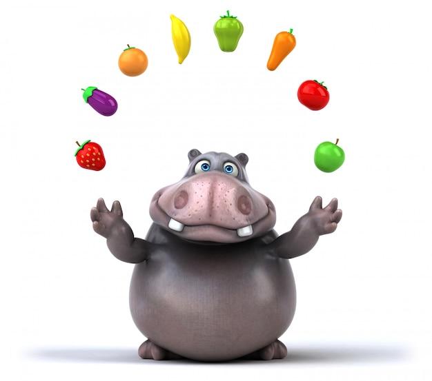 Fun hippo animation