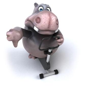 Забавная анимация бегемота