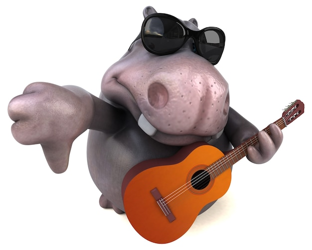 Fun hippo illustration
