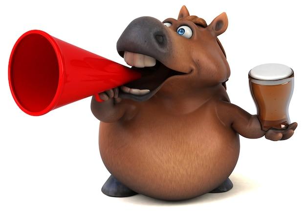 Fun horse - 3d illustration