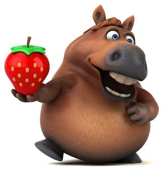 Веселая лошадь - 3d иллюстрации