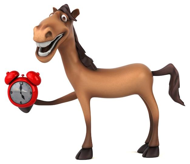 Веселая анимация лошади