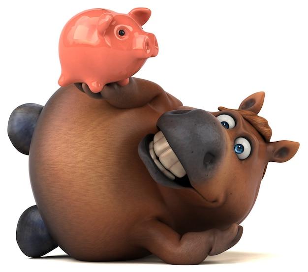 Веселая иллюстрация лошади