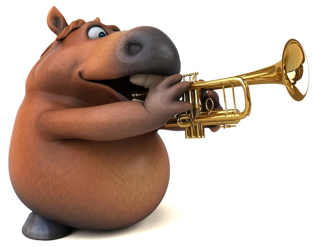 Fun horse illustration