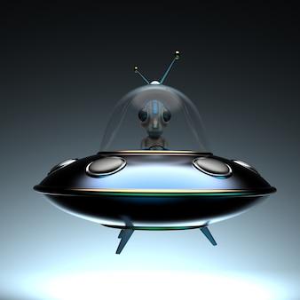 Fun illustration of an alien