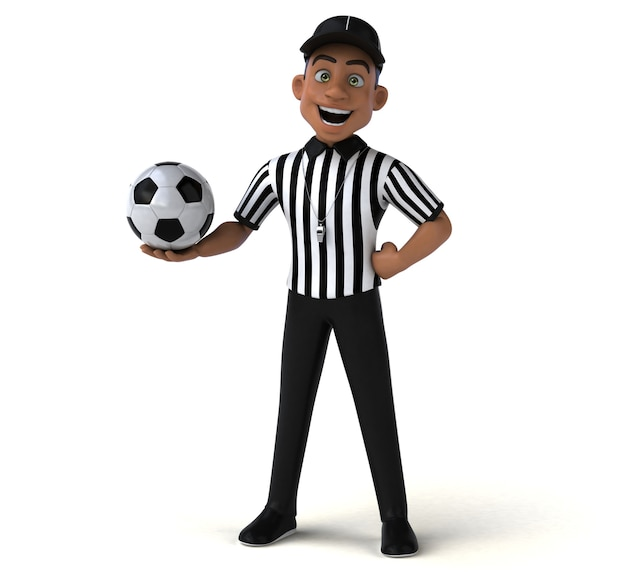 Fun illustration of an american referee