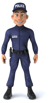 Fun illustration of a cartoon police officer