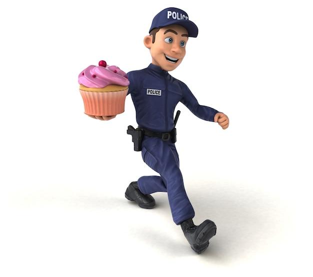 만화 경찰관의 재미있는 그림