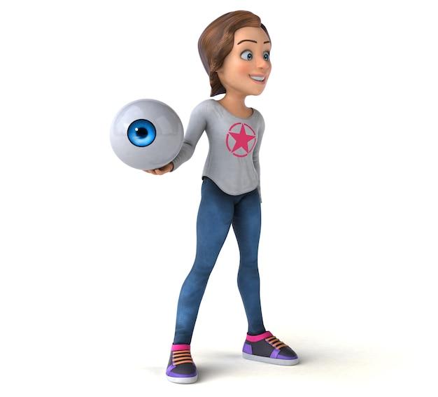 만화 십 대 소녀의 재미있는 그림