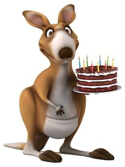 Забавный кенгуру - 3d иллюстрация