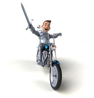 Веселый рыцарь - 3d иллюстрация