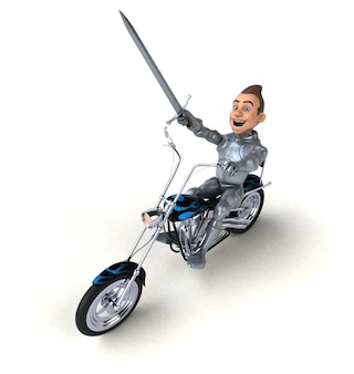 Веселый рыцарь - 3d иллюстрации