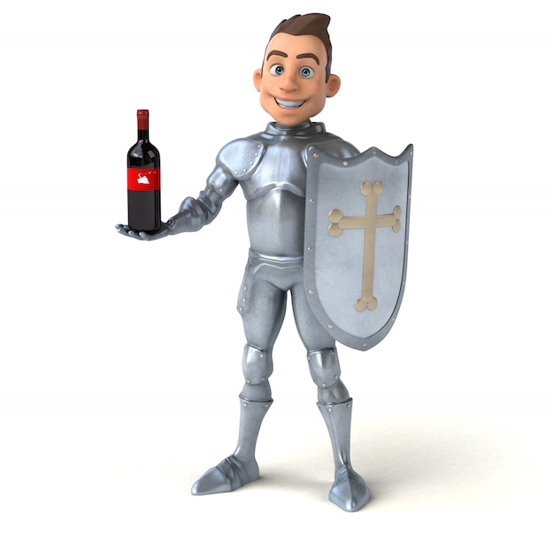 Весело рыцарь иллюстрация
