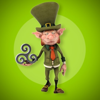 Fun leprechaun - illustrazione 3d