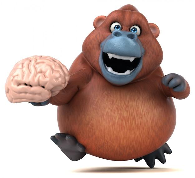 Веселая анимация орангутанга