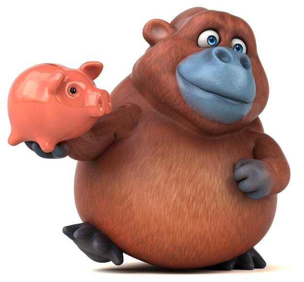 Забавная иллюстрация орангутана