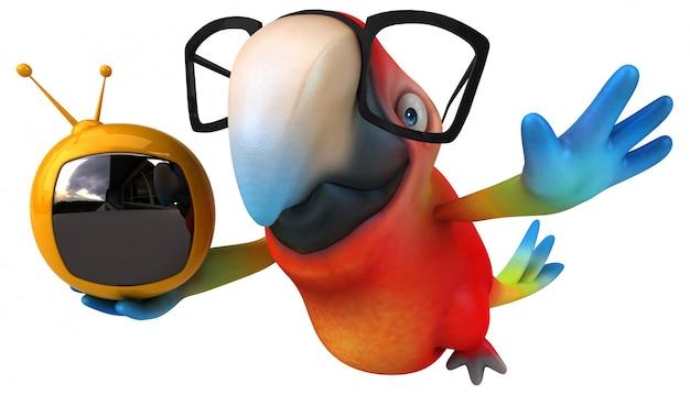 재미있는 앵무새 애니메이션
