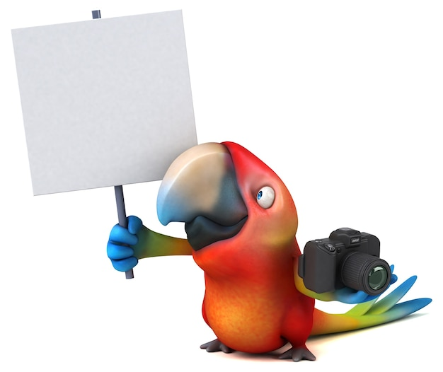 Иллюстрация весело попугай