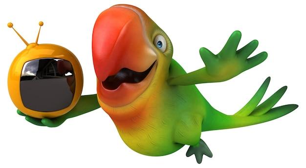 재미있는 앵무새 그림