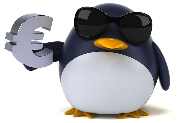 Fun penguin - 3d character